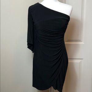Bisou Bisou one shoulder black dress